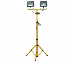 Twin LED 20 Watt Tripod Work Lights [2880 Lumens]