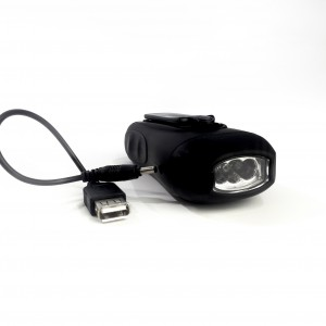 LED Dynamo Rechargeable Torch [USB Adaptor]