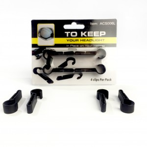Headlamp Helmet Clip Set