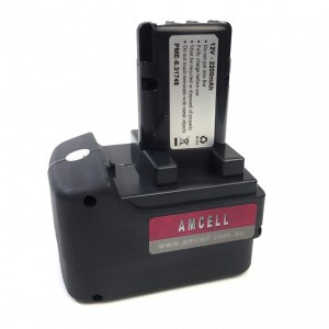 Metabo 12V 2.2 Ah Replacement Battery NiCd [Japanese Cells] (Round Centre Pin)