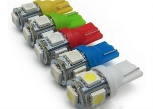 12V T10 5 SMD LED GLOBE (2PC)