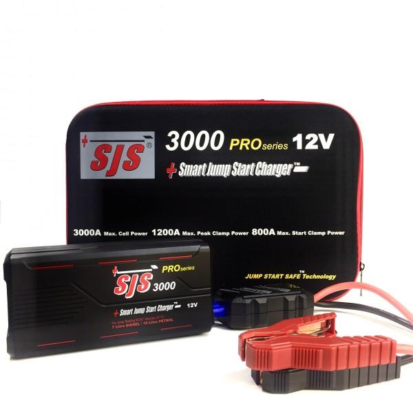 Sjs 12v lithium smart jump starter 12.875 on a tape measure